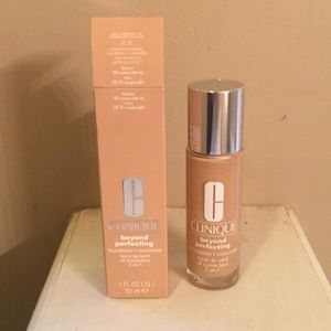Clinique beyond perfecting the color is neutral